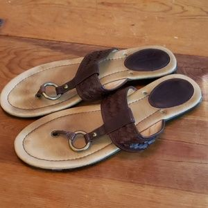 Frye Shoes - Frye Brown Woven Leather Sandals